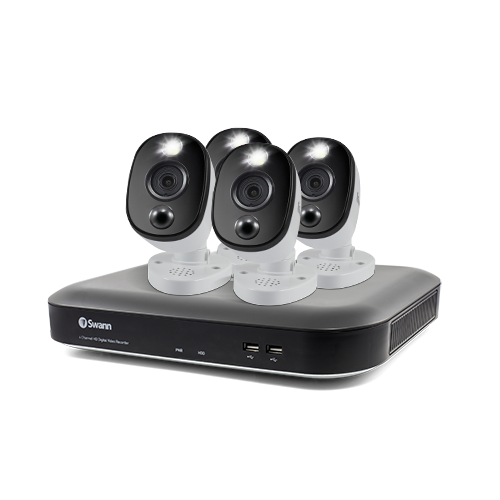 4 Camera 4 Channel 4K Ultra HD DVR Security System