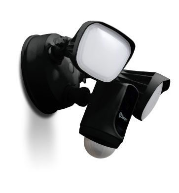 Wi-Fi Floodlight Security Camera - Black