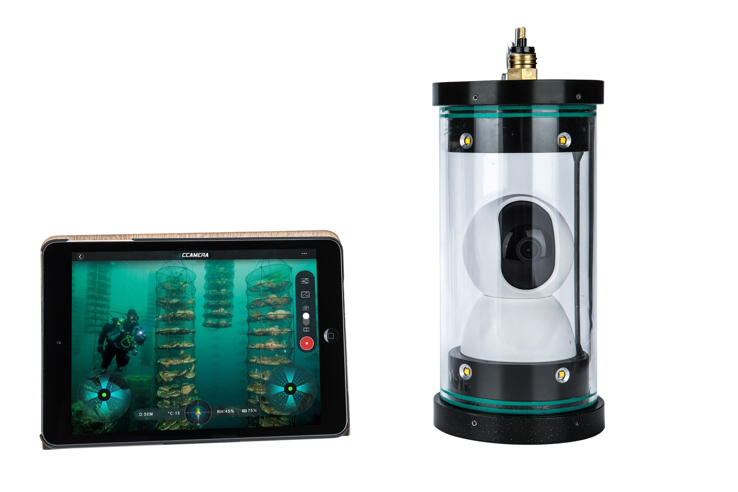 CCam Underwater 360 Camera with Real 4K and 720p Real-Time Transmission