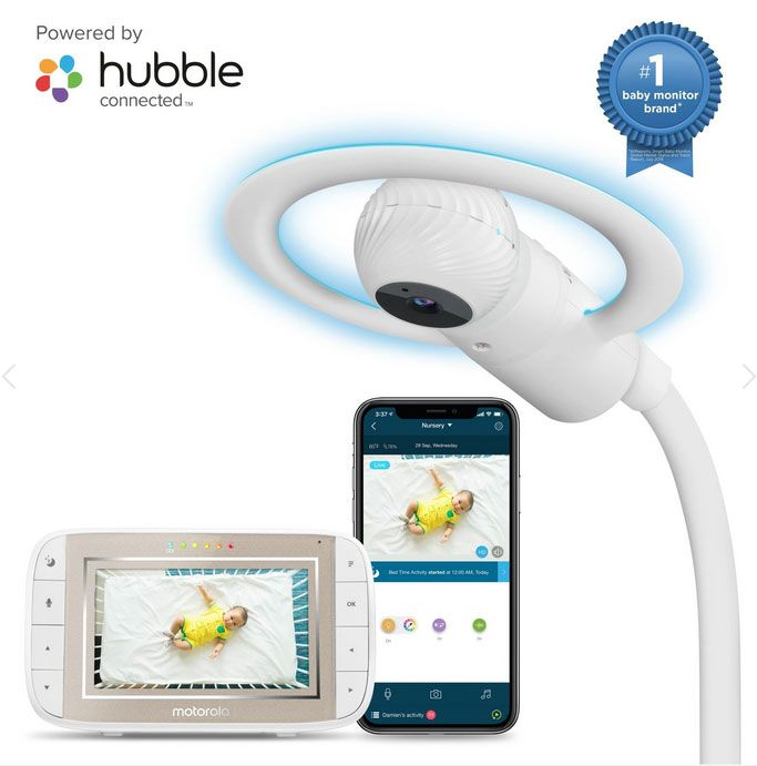 Motorola Halo+ Over-the-crib Full HD Wi-Fi Baby Monitor & Soother