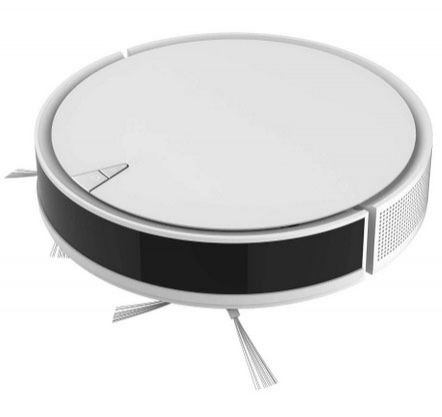 Robot Vacuum Wi-Fi 1300Pa Robotic Sweep & Mop Cleaner Compatible with Google Assistant Alexa and Boundary Strips 80min Runtime Self-Charging Smart Sensor Protect Multiple Cleaning Modes